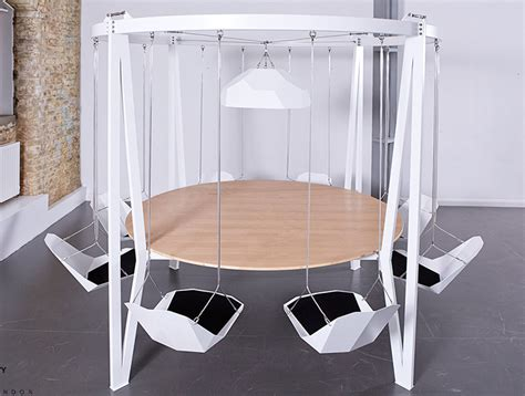 swinging bridge table table duffy london s king arthur swing table keeps folks from