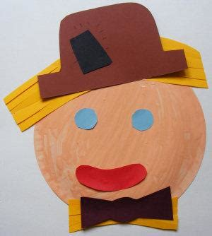 Scarecrow Paper Plate Craft - make a scarecrow