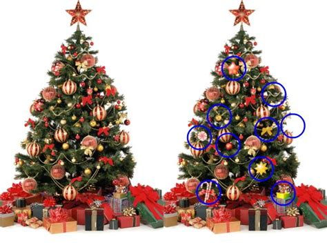 christmas treed with a difference spot the difference new calendar template site