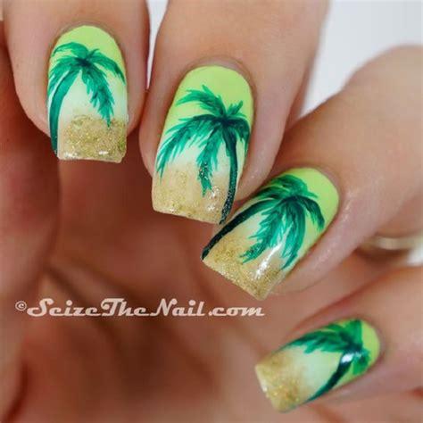 easy nail art palm tree 40 palm tree nail art ideas jewe blog