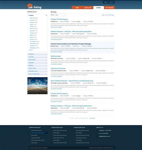 free templates for job website job website template free job portal templates phpjabbers