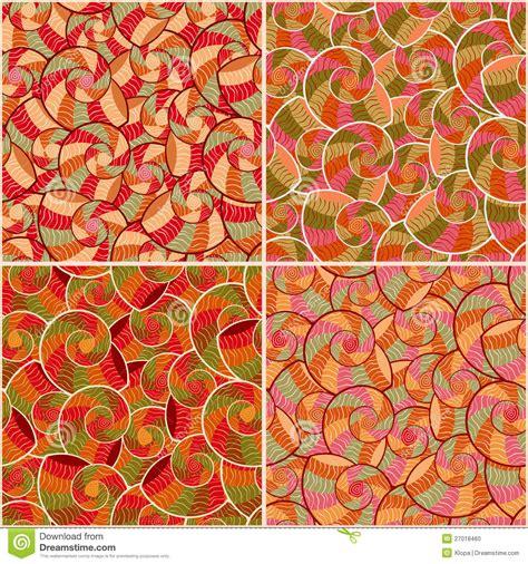 basic doodle seamless pattern set no 8 in black and white abstract doodle seamless pattern set stock photo image