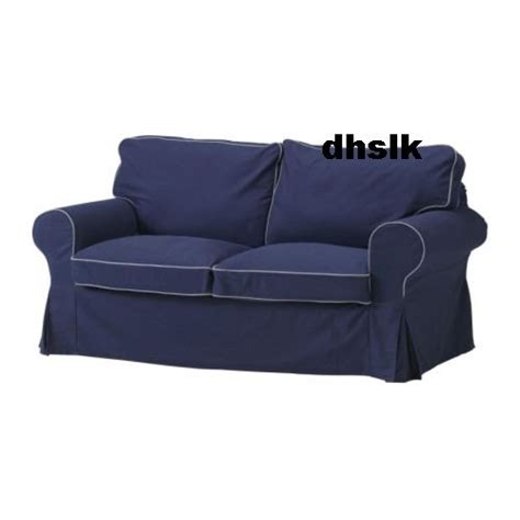 Ektorp Sleeper Sofa Slipcover Ikea Ektorp Sofa Bed Slipcover Sofabed Cover Idemo Blue Contrasting Piping