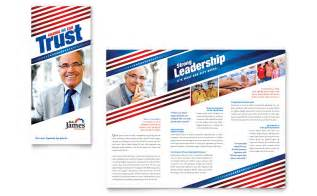 political campaign tri fold brochure template word