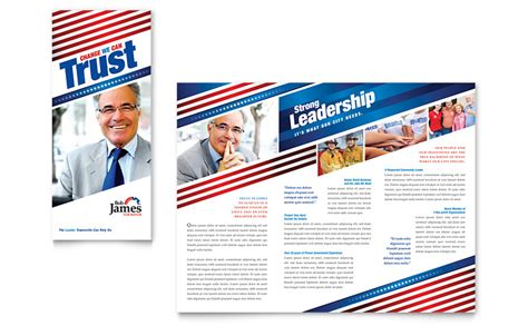 political caign tri fold brochure template word