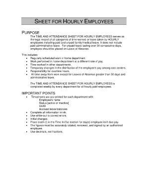 Time Clock Policy Template
