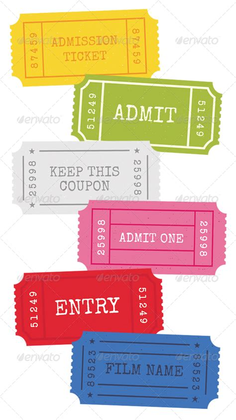 Admission Ticket Template Free Admission Ticket Template