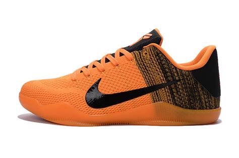 black and orange nike basketball shoes nike 11 elite orange black basketball shoes for sale