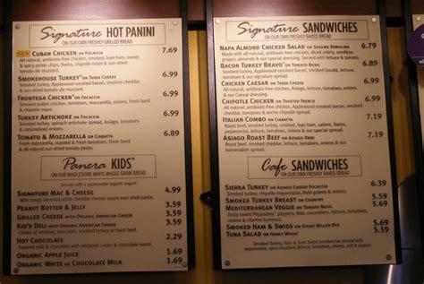 Panera Bread Printable Menu With Prices