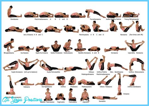 printable yoga chart yoga poses vinyasa chart all yoga positions
