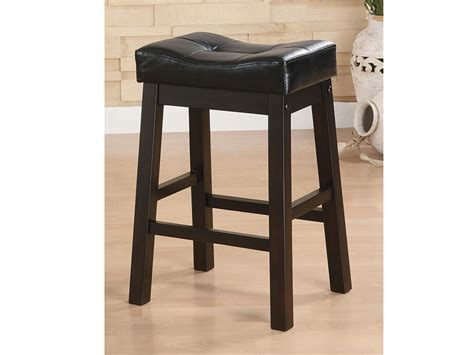 24 Inch Padded Saddle Bar Stools by 2pcs 24 Inch Padded Seat Cappuccino Saddle Bar Stool