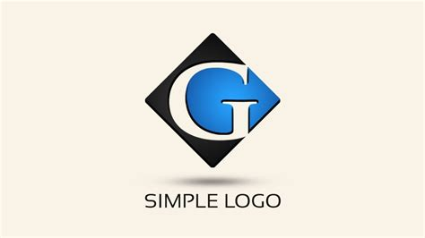 design logo easy simple logo design with photoshop letter g youtube