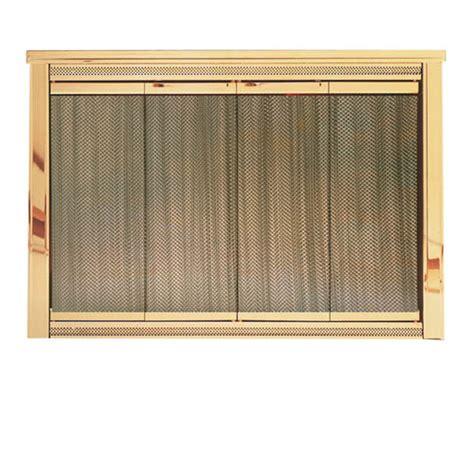 glassfyre ii vantage antique brass glass fireplace door