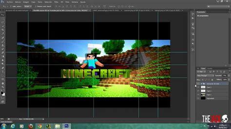 photoshop crea un banner de minecraft para youtube 2013