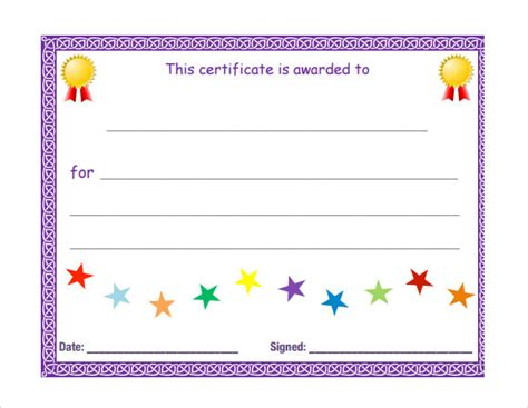 search results for blank template certificates for