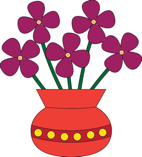 Clipart Flower Vase by Roses In A Vase Clip Cliparts