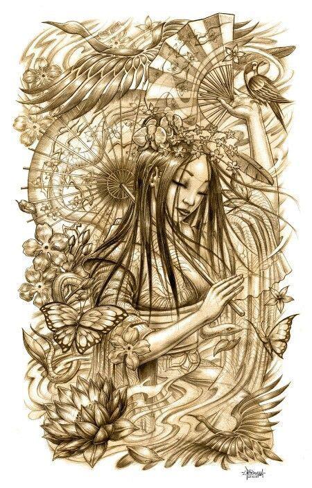 geisha tattoo inspiration 17 beste afbeeldingen over idee op pinterest inkt