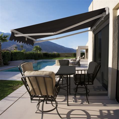 retractable patio awning retractable sunbrella awning rainwear