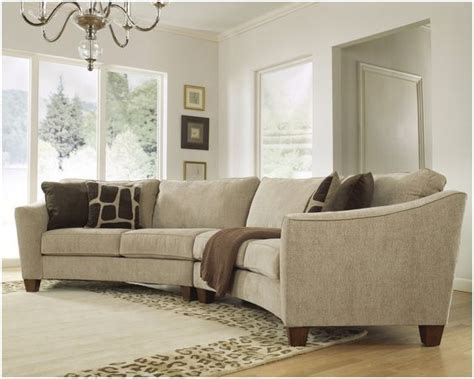 contemporary curved sectional sofa living area