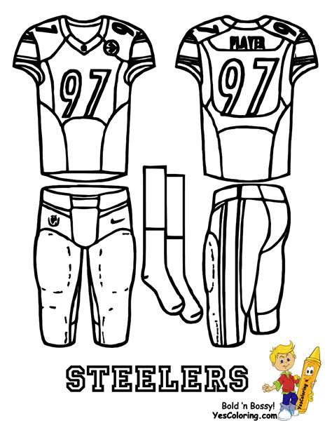 Nfl Uniform Coloring Pages | attack afc football uniform printables bills chargers