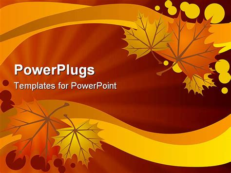 fall powerpoint templates free a warm background made of autumn leaves powerpoint