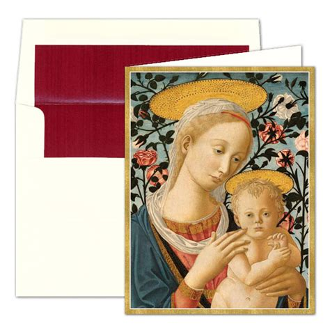 madonna  child personalized christmas greeting cards