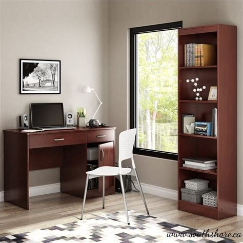 Narrow Computer Desk With Shelves Features