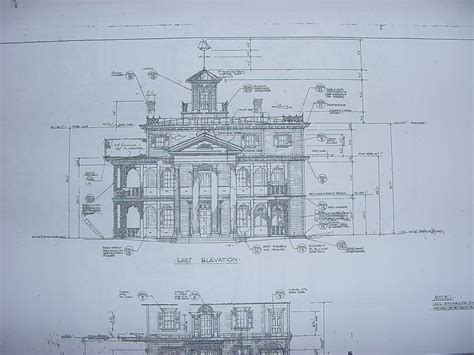mansion blueprint new orleans square blueprints
