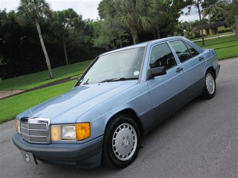 repair anti lock braking 1991 mercedes benz w201 electronic valve timing find used 1991 mercedes 190e 2 6 low miles clean carfax garage kept florida books records in