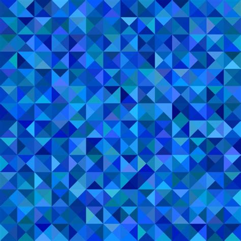blue pattern background vector geometric triangle tiled mosaic pattern background