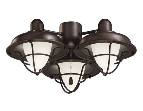 Ceiling Fan With Cage Light Emerson Lk40ges Golden Espresso Closeout 3 Light Boardwalk Cage Ceiling Fan Light Kit