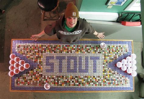 Bottle Cap Pong Table by Pong Table Made By Attending Uw Stout Out Of