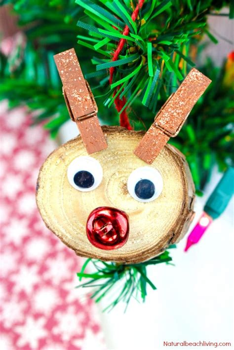 child made christmas ornaments easy to make rudolph ornaments will living