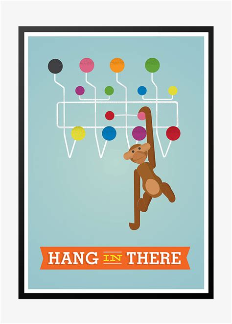 Plakat Retro by Retro Plakat Hang In There Shop Med Plakater