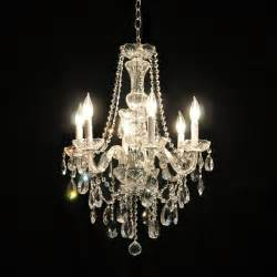 chandelier traditional glass arm swarovski chandelier in chrome