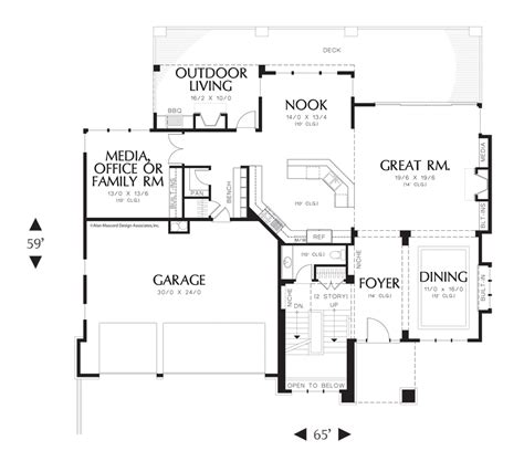 contemporary prairie with daylight basement 69105am mascord house plan 2451 the rylander