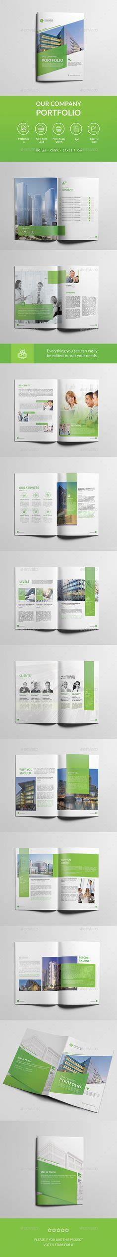 company profile design template psd clean and professional company profile brochure template