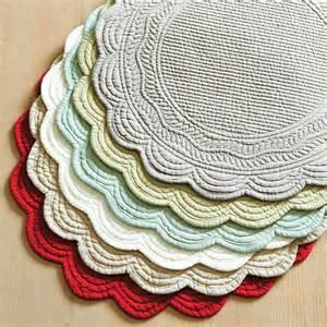 Ballards Design marseille linen round placemats set of 4 traditional
