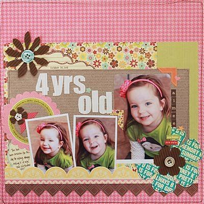 scrapbook layout for 4 photos becky williams awesome scrapbook layouts pinterest