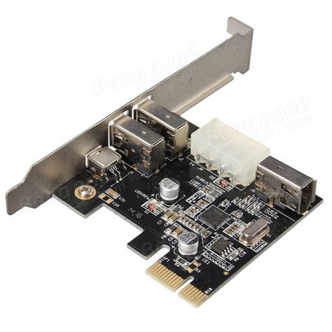 Pci E Card Firewire Ieee1394a Chipset Via With Cable pci express x1 pci e firewire 1394a ieee1394 capture