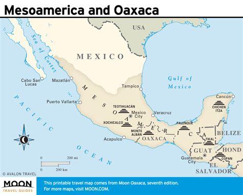 oaxaca mexico map printable travel maps of oaxaca mexico moon guides