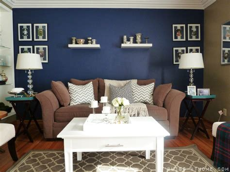 blue accent walls navy blue accent wall living room