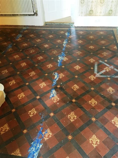 Recently Uncovered Victorian Tiled Hallway Restored to New
