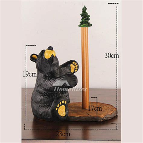 unique free standing toilet paper holder unique bear toilet paper holder stand black resin