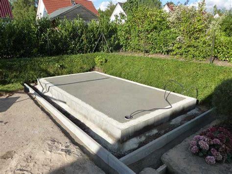 gartenhaus fundament bauen aufbau eines gartenhauses mit podest fundament