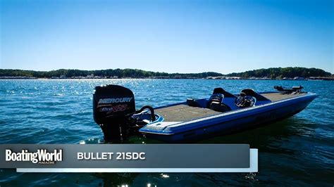 boat test bullet 21sdc boat test youtube