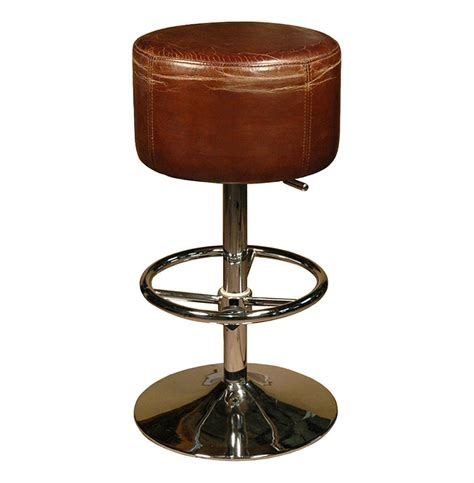 leather top bar stools jeanne rustic retro distressed top grain leather brown