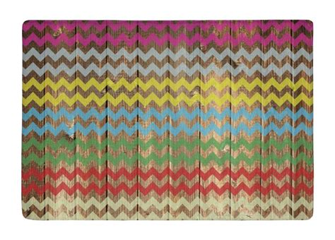 Colorful Outdoor Rug Floor Mat Vintage Wood Colorful Chevron Stripes Print Non Slip Rugs Carpets Alfombra For Indoor
