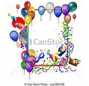 Illustrations De Carnaval F&234te Cadre &224 Ballons Csp1854195