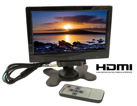 monitor to hdmi tft lcd color hd monitor 7 quot 3 way input hdmi audio